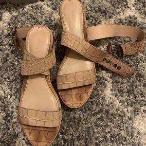 Via Spiga cork wedge sandals
